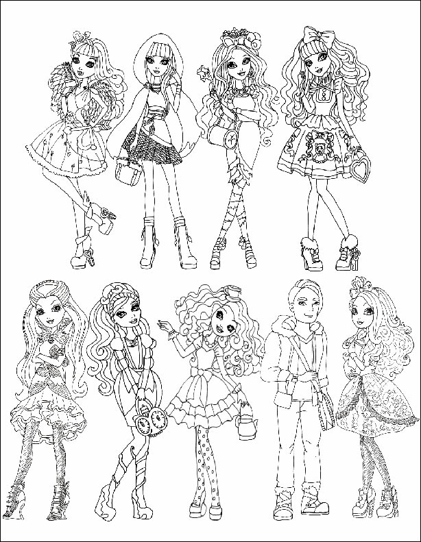 Ausmalbilder Ever After High 1 | Ausmalbilder kinder