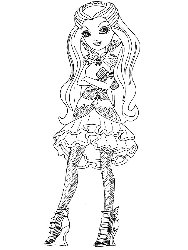 Ausmalbilder Ever After High 4