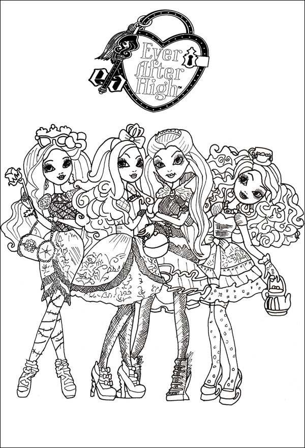 Ausmalbilder Ever After High 6