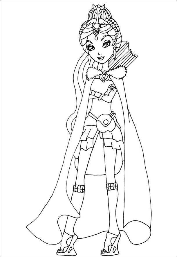 Coloring Pages Ever After High Nina Thumbell