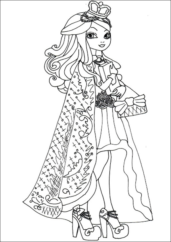 Ausmalbilder Ever After High 10