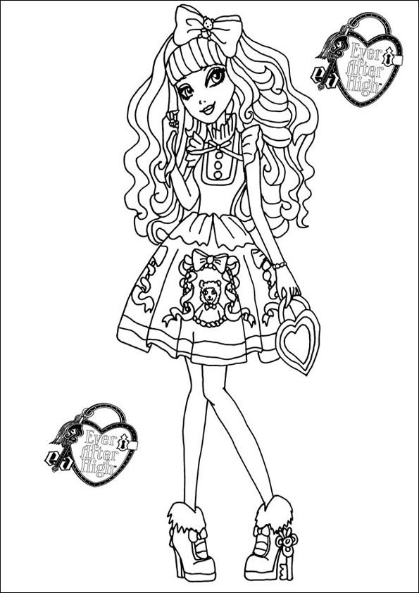 Ausmalbilder Ever After High 14