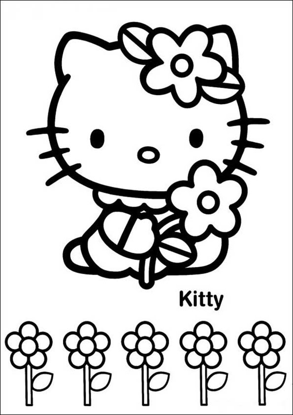 Ausmalbilder Hello Kitty 7 | Ausmalbilder kinder