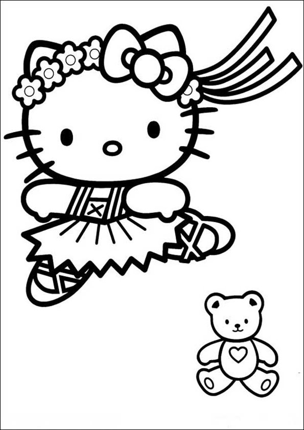 Ausmalbilder Hello Kitty 8 | Ausmalbilder kinder