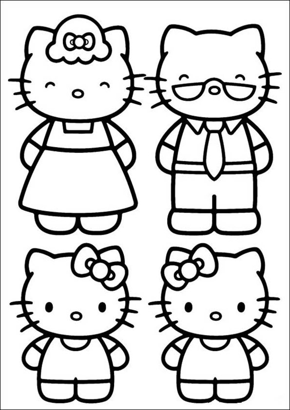 Ausmalbilder Hello Kitty 14 | Ausmalbilder kinder