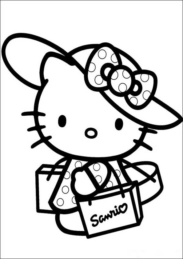 Ausmalbilder Hello Kitty 17 | Ausmalbilder kinder