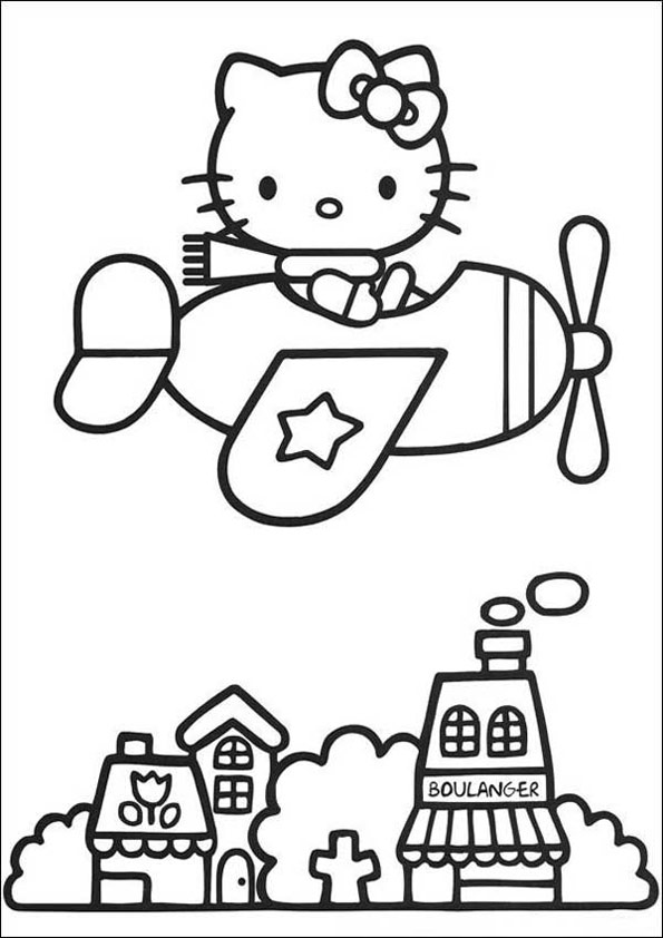 Ausmalbilder Hello Kitty 37 | Ausmalbilder kinder