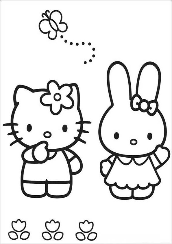 Hello Kitty zum ausmalen 38