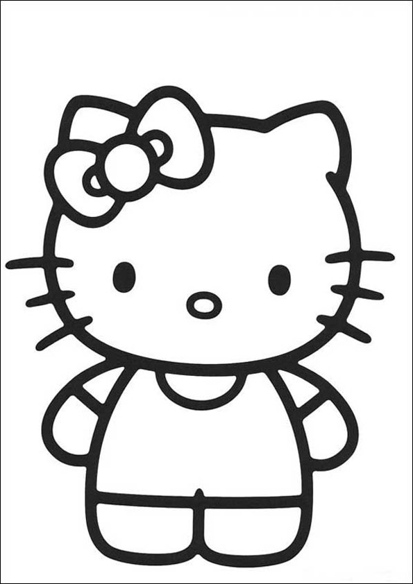 Hello Kitty zum ausmalen 39