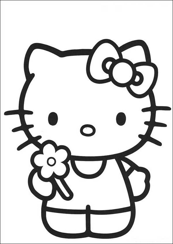 Hello Kitty zum ausmalen 40