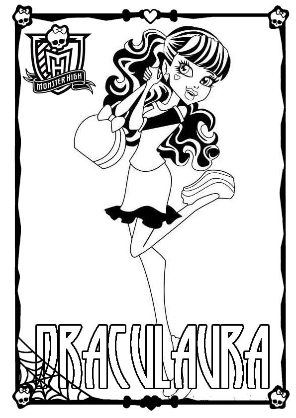 Ausmalbilder Monster High 01