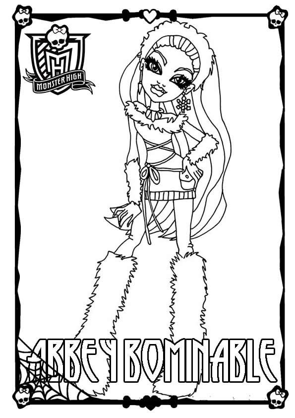 Ausmalbilder Monster High 02
