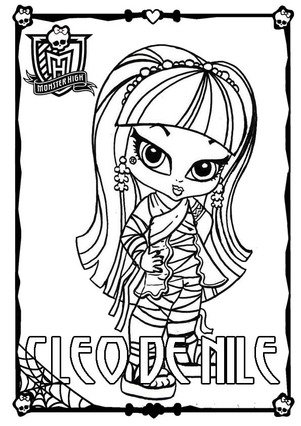 Ausmalbilder Monster High 05