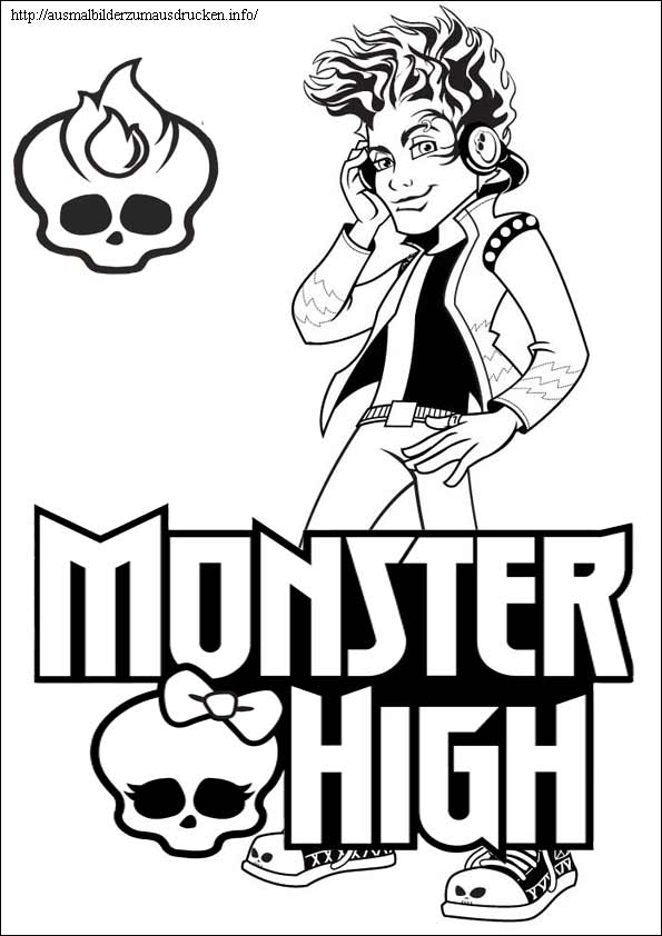 Ausmalbilder Monster High 10