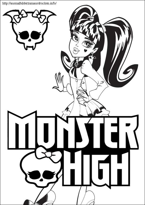 Ausmalbilder Monster High 11