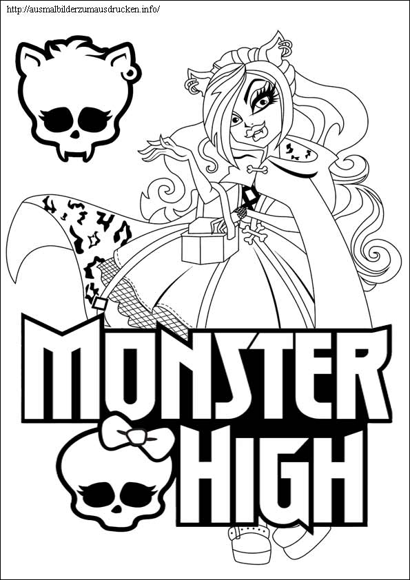 Ausmalbilder Monster High 12