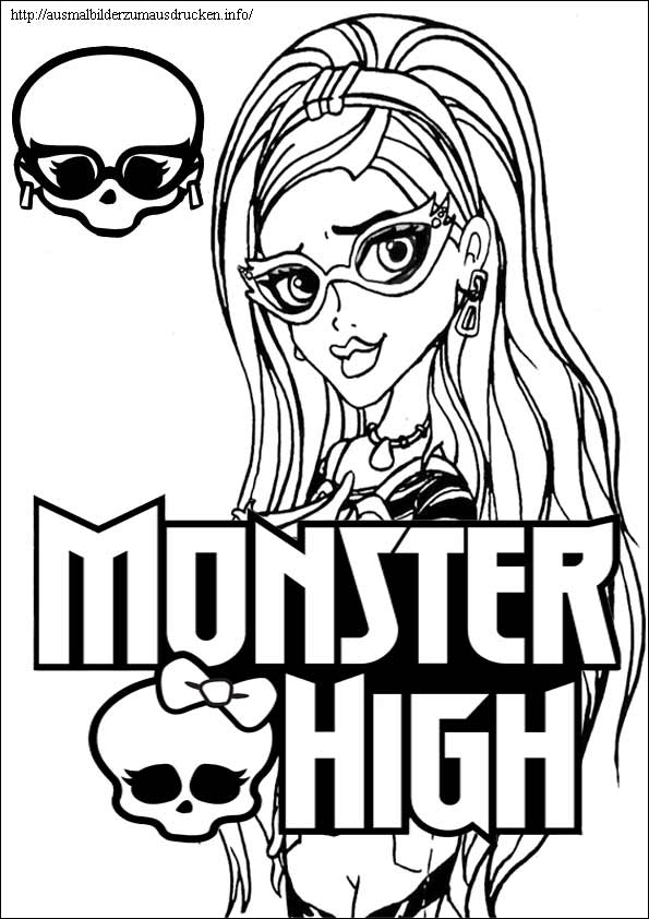 Ausmalbilder Monster High 14