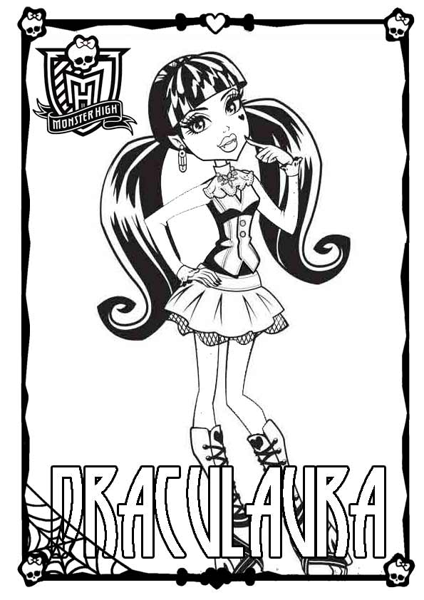 Ausmalbilder Monster High 28