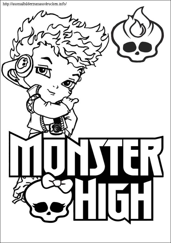 Ausmalbilder Monster High 30
