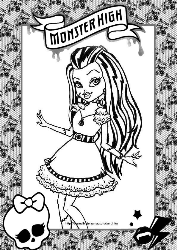 Ausmalbilder Monster High 32