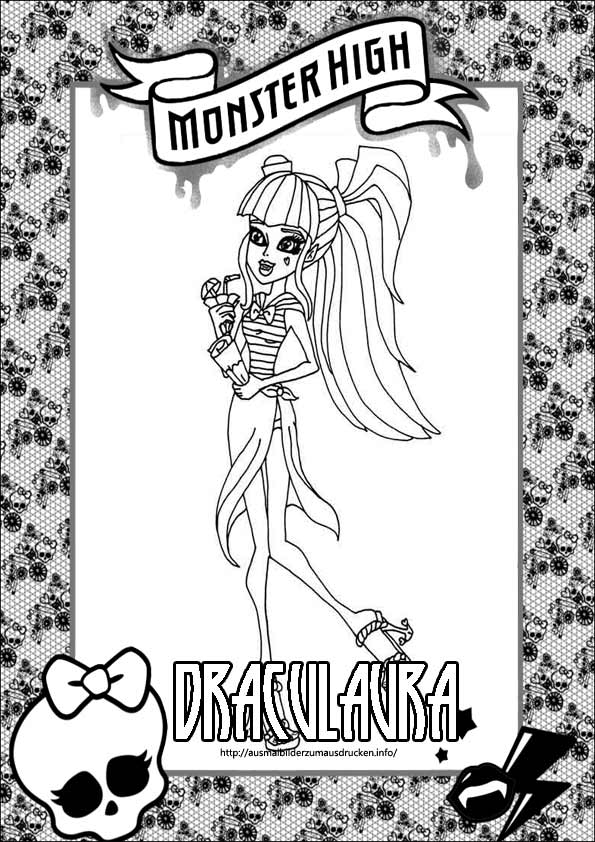 Ausmalbilder Monster High 34