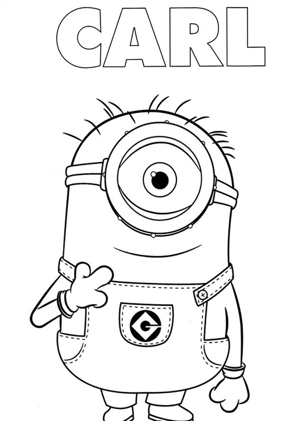 Dave Minion Coloring Pages