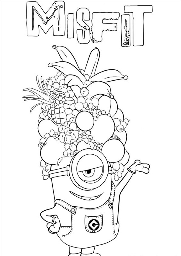 Ausmalbilder Minions 2... Baby Minion Coloring Pages